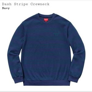 Supreme Dash Stripe Crewneck